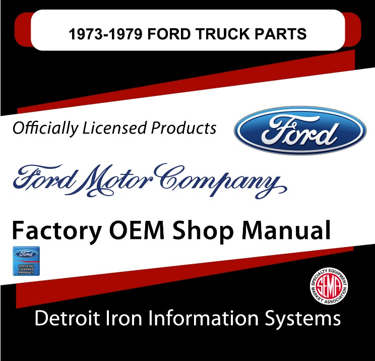 1973-1979 Ford Truck Parts OEM Manuals - CD