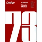 1973 Dodge Challenger, Dart, Charger, Coronet, Polara, Monaco Chassis Service Manual