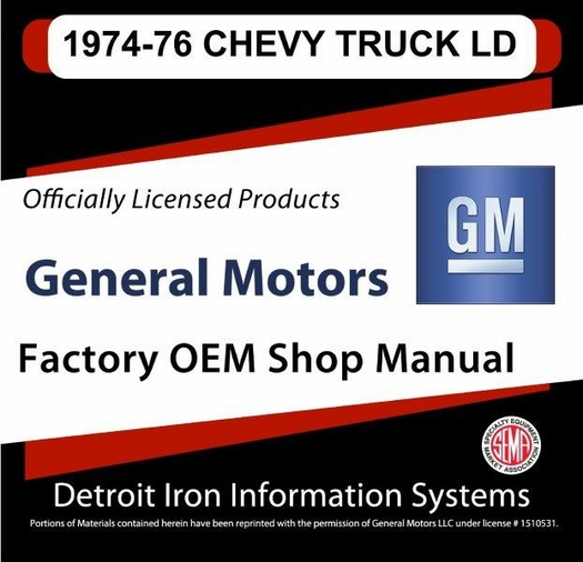 1974 1976 chevrolet trucks light duty factory oem shop manuals on cd rh themotorbookstore com 1987 Chevrolet Truck 1985 Chevrolet Truck