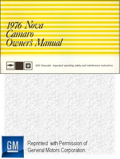1976 chevrolet camaro owner s manual gm part no 360272b rh themotorbookstore com general motors owners manual pdf general motors user manuals