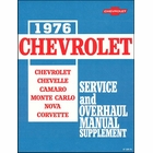 1976 Chevrolet Service and Overhaul Manual Supplement
