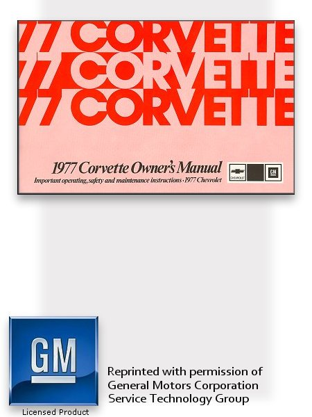 1977 Chevrolet Corvette Owner's Manual