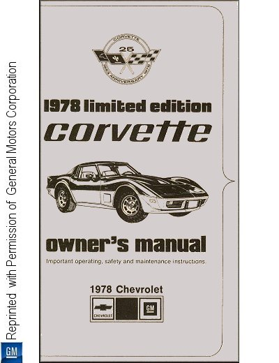 1978 Chevrolet Corvette Limited Edition (Pace Car) Owner's Manual