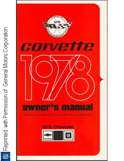 1978 Chevrolet Corvette Owner's Manual