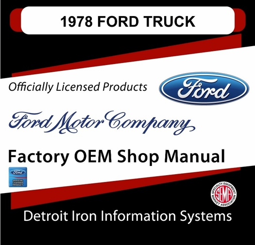 1978 Ford Truck OEM Manuals - CD