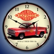 1978 Little Red Truck Wall Clock, LED Lighted