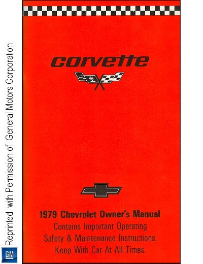 1979 Chevrolet Corvette Owner's Manual
