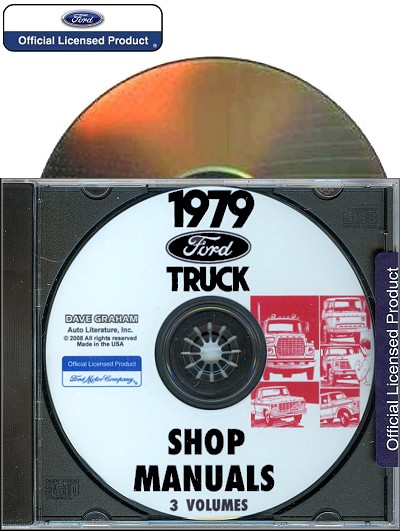 1979 Ford Truck Shop Manuals (3-Volumes) on CD-ROM