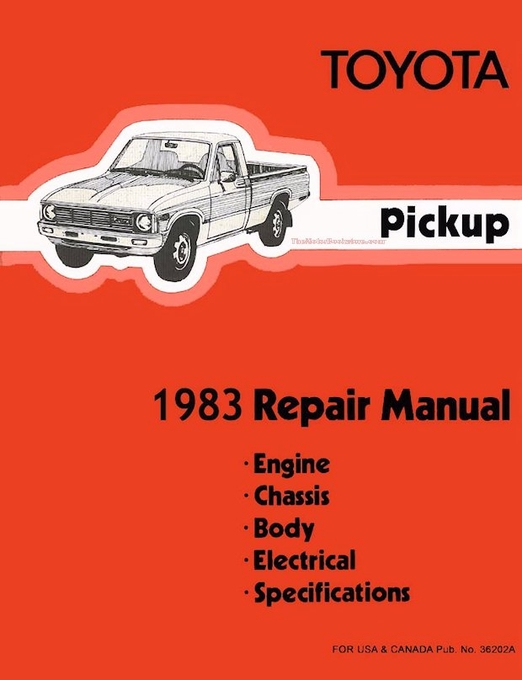 1983 toyota pickup oem repair manual 36202a rh themotorbookstore com 1984 toyota pickup owners manual 1982 Toyota Pickup