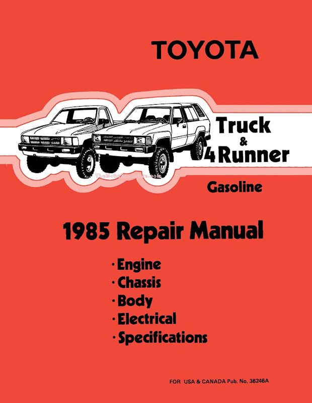 1985 Toyota Truck & 4Runner OEM Repair Manual