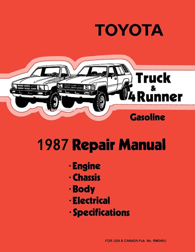 1987 Toyota Truck & 4Runner OEM Repair Manual
