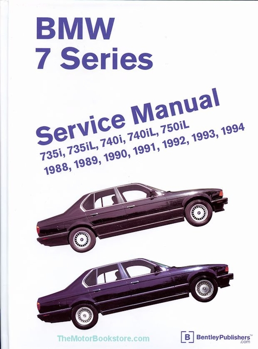 bmw 7 series e32 repair manual 735i 735il 740i 740il 750il rh themotorbookstore com 1994 BMW 740I 1998 BMW 740iL