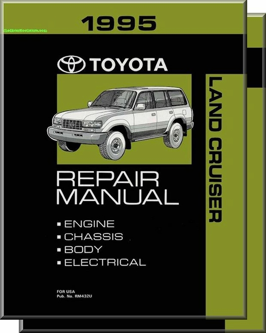 1995 toyota land cruiser oem repair manual rm432u rh themotorbookstore com Auto -Owners Manuals Automobile Service Manuals