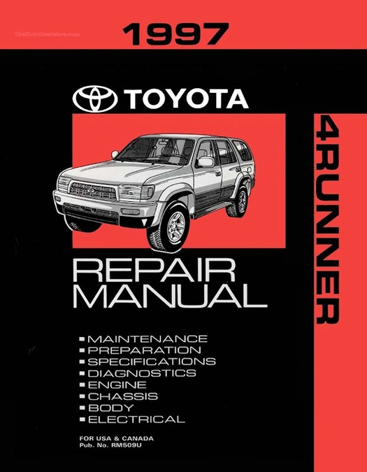 1997 toyota 4runner oem repair manual rm509u rh themotorbookstore com 1999 Toyota 4Runner Wheel Bearing 1999 Toyota 4Runner Wheel Bearing