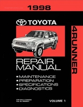 1998 Toyota 4Runner OEM Repair Manual