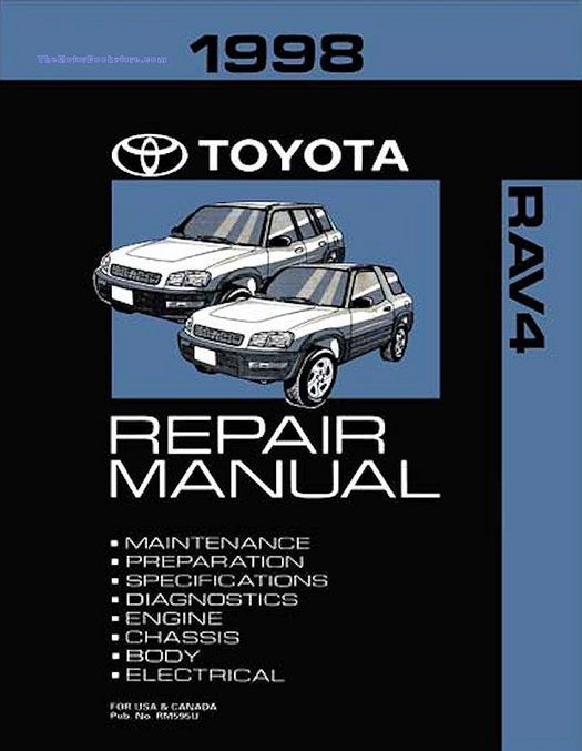1998 toyota rav4 oem repair manual rm595u rh themotorbookstore com 1998 toyota rav4 owners manual 1998 toyota corolla owners manual