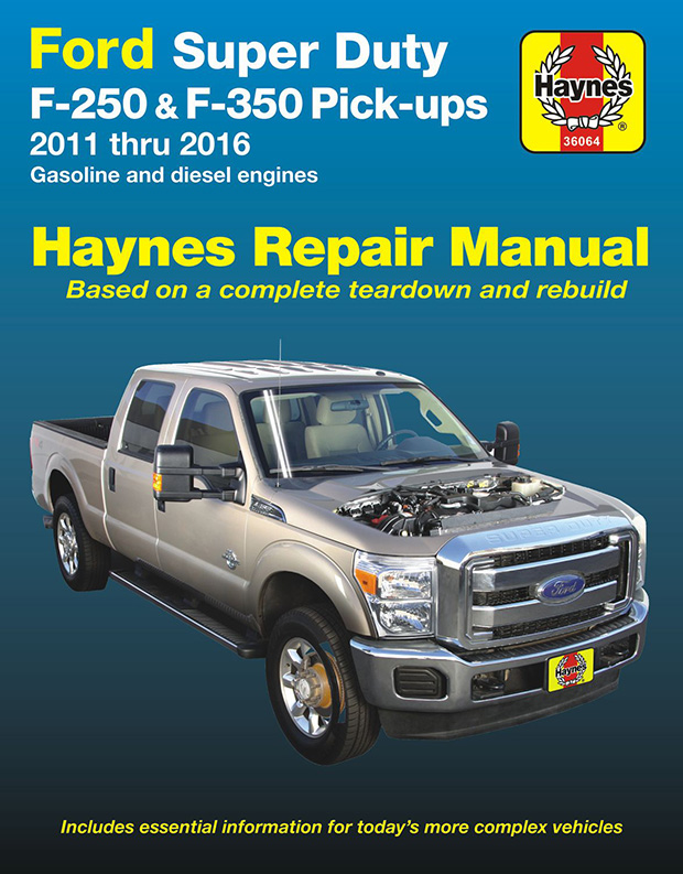 ford f250 f350 super duty repair manual 2011 2016 haynes 36064 rh themotorbookstore com repair manual for international truck Repair Manuals Yale Forklift