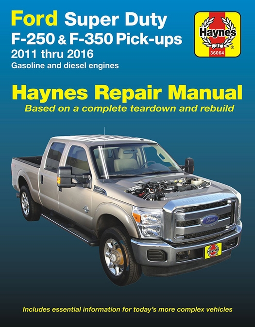 ford f250 f350 super duty repair manual 2011 2016 haynes 36064 rh themotorbookstore com 2013 Ford Taurus Owners Manual 2013 Ford Taurus Owners Manual