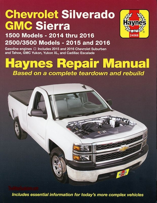 repair manual chevy silverado tahoe sierra escalade 2014 2016 rh themotorbookstore com haynes repair manual 2001 chevy silverado Online Repair Manuals