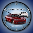 2014 SS Camaro Crystal Red Wall Clock, LED Lighted