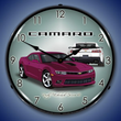 2014 SS Camaro Deep Magenta Wall Clock, Lighted
