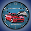 2014 SS Camaro Red Hot Wall Clock, Lighted