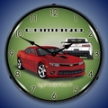2014 SS Camaro Red Rock Wall Clock, LED Lighted