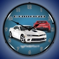 2014 SS Camaro Summit White Wall Clock, LED Lighted