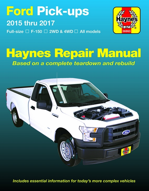 Ford F-150 Pick-up Truck Repair Manual: 2015-2017 | Haynes ...