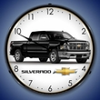 2015 Chevrolet Silverado Pickup Truck Wall Clock (Black), LED Lighted