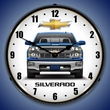 2015 Chevrolet Silverado Pickup Truck Wall Clock (Blue), LED Lighted