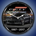 2017 Camaro 50th Anniversary Wall Clock, Lighted