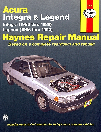 acura integra legend repair manual 1986 1990 haynes 12020 rh themotorbookstore com 1995 Acura Legend 1999 Acura Legend