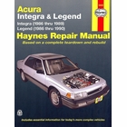 Acura Repair Manual Integra 1986-1989, Legend 1986-1990