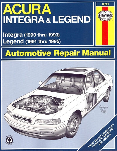 acura repair manual integra 1990 1993 legend 1991 1995 haynes rh themotorbookstore com 1996 Acura Legend 1993 Acura Legend Parts
