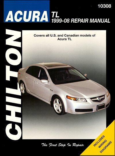 acura tl repair service manual 1999 2008 chilton 10308 rh themotorbookstore com 1996 Acura TL 1999 acura tl repair manual