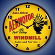 Aermotor Windmill Wall Clock, LED Lighted