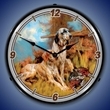 After The Hunt Wall Clock, LED Lighted