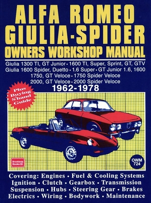 Alfa Romeo Repair Manuals, Restoration: Spider, Giulia