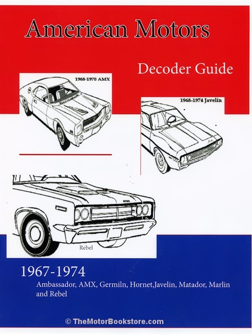 AMC Decoder Guide 1967-1974: AMX, Javelin, Hornet, Gremlin, more...