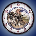 America's Heritage Wall Clock, LED Lighted