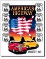 """America's Highway - Route 66\"" Tin Sign"