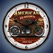 American Classics Bike Wall Clock, LED Lighted