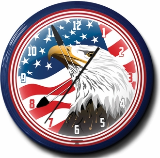 American Eagle Neon Clocks, High Quality, 20 Inch