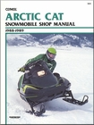 Arctic Cat Snowmobile Repair Manual 1988-1989