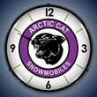 Arctic Cat Snowmobiles Wall Clock, LED Lighted