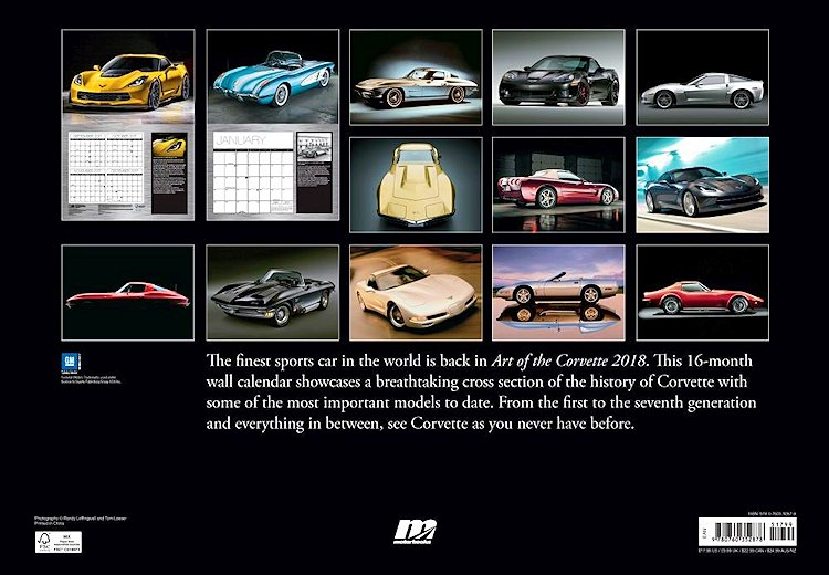 Art Of The Corvette 2018 Wall Calendar