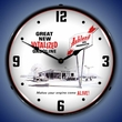 Ashland Oil Wall Clock, LED Lighted