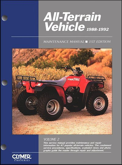 atv service manual honda kawasaki polaris suzuki yamaha 1988 1992 rh themotorbookstore com service manual atv 1000 renegade 2013 can am service manual atwood 8940-iii dclp furnace
