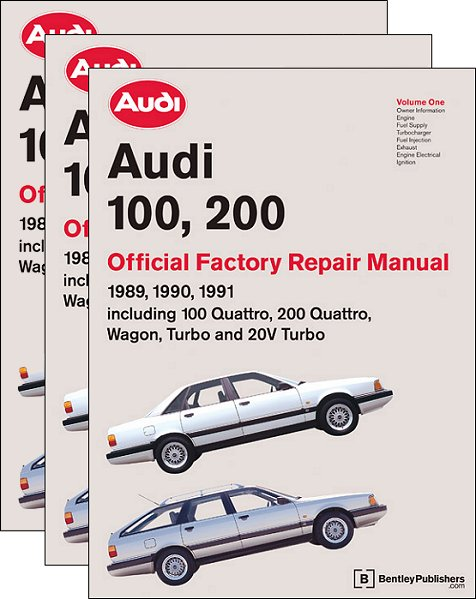 audi 100 200 factory repair manual 1989 1991 bentley a191 rh themotorbookstore com 2000 Audi 100 1989 Audi 100